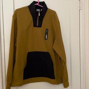 NWT puma moss green half zip sweater size: XL